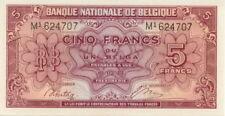 Belgium 5 francs (1 belga), 1943, UNC
