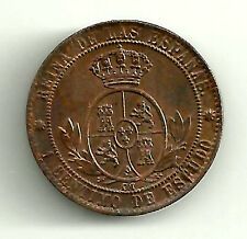 ISABEL II 1 CÉNTIMO 1868 DE BARCELONA (OM) (SC-)