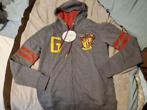 Harry Potter Men's Gryffindor Hooded Sweatshirt Pullover Hoodie S Small
