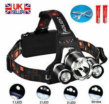 12000LM 3x XML CREE T6 LED Rechargeable Head Torch Headlamp Light Lamp Powerful
