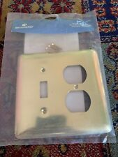 64353 Brass Stamped Steel Single Switch/Duplex Cover Plate New