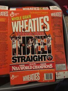 1993 NBA Champions Chicago Bulls Wheaties Box Flat Michael Jordan 1991,92,93