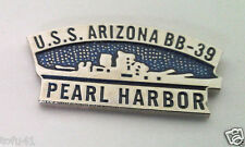 *** U.S.S. ARIZONA BB-39 PEARL HARBOR ***  Military Veteran Hat Pin 14967 HO