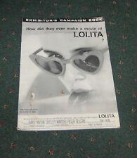 Press Book for the movie Lolita James Mason Shelly Winters 1962