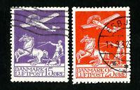 Denmark Stamps # C2-3 VF Used Catalog Value $182.50