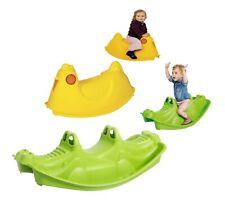 Kids Plastic Toy Rocking Seater Seesaw Rocker Children Indoor Outdoor Croc Chic