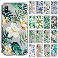 For iPhone X XS 8 7 XR XS Max Cute Soft Silicone Pattern Clear Case Rubber Cover