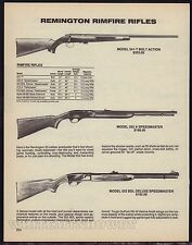 1988 REMINGTON 541-T T-Bolt~552 A & 552 BDL Deluxe Speedmaster Rimfire Rifle AD