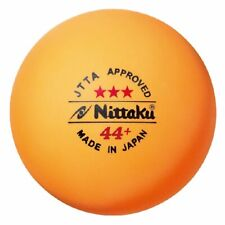 Nittaku 3pcs JTTA Large 44+ Table Tennis Balls Plastic Ball Made in JAPAN