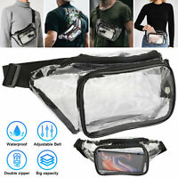 Clear Fanny Pack Men Women Waist Pouch Belt Bag Outdoor Sports Stadium Security
