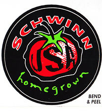 "NOS Schwinn Homegrown sticker- Plus free ""Schwinn Quality"" sticker!!"