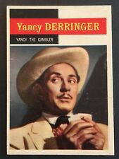 Vintage 1958 Topps TV WESTERNS card #34 YANCY THE GAMBLER- combined ship