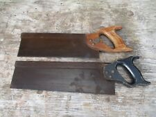 Vintage Woodwork Tools - Tennon Saws - Wooden Handles - Collectable Items