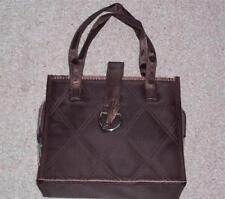 AVON BROWN SATIN SHEEN COSMETIC BAG - New in original packaging