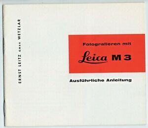 Leica M 3 ausführliche Anleitung