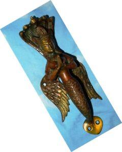 9'' Inches Snake Lady Handle Brass Mermaid Door Pull With Snake Crown Head EK719