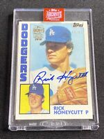 2019 TOPPS ARCHIVES SIGNATURE RICK HONEYCUTT AUTO SP/82 - 1984 TOPPS