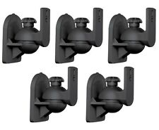 5 Pack Lot - Universal Satellite Speaker Black Wall Mount Brackets fits JVC Bose