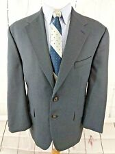 Chaps Ralph Lauren Mens Blazer Sport Coat 44S Birdseye Two Button Wool Blue