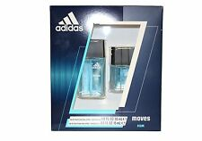 Adidas Moves by Adidas 2 Pces set1.0 EDT Spray+0.50 EDT Spray For Men New In Box