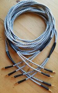 Rare 12AWG Western Electric KS.13385L-1 Non Hifi Sounding Speaker Cables 8ft Pr.