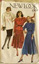NEW LOOK MISSES TOP & SKIRT PATTERN 6909 SIZE 8-10-12-14-16-18
