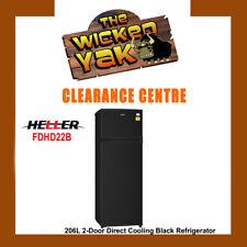 Heller 206L Black 2-Door Direct Cooling Fridge Freezer Adj Shelves FDHD22B -NEW!