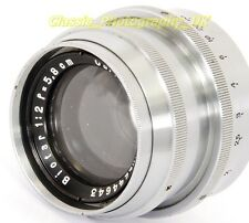 Zeiss BIOTAR 1:2 f=5.8cm VERY Rare Chromed Brass Barrel 58mm F2 Lens for Exakta