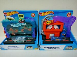 Hot Wheels City Downtown Speedy Fuel Stop Police Station Breakout New Lot