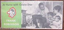 At Home With Oriole Star - Newspaper Comic Page Card - Frank Robinson