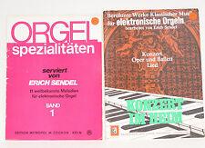 Erich Sendel 2x Berühmte Werke elektronische Orgel / Orgel Spezialitäten