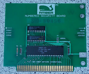 AMBER Software International numbered Security Card ISA 8 Bit AT-DHS-1041 NSC3