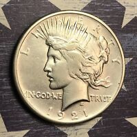 1921 PEACE SILVER DOLLAR NICE COLLECTOR COIN FOR YOUR COLLECTION.