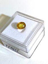 edelsteine24 Echter gelber Saphir oval fac. 7x5mm 1.29ct yellow Saphire! Saf-38