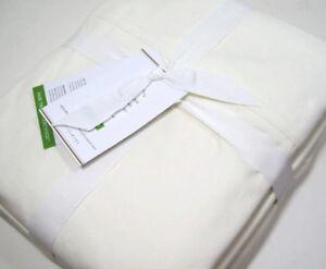 Pottery Barn 400 Thread Count Organic Cotton Ivory King Sheet Set New