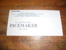 Prospekt Sales Brochure Pacemaker Boote Motorboot Sportship Pacer 25