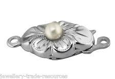 Collar de Abalorios de Plata Esterlina Perla/empuje con Perlas Joyas Broche de capturas