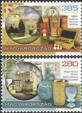 Hungary 2011 Museums/Glass Goblet/Pharmacy Vessels/Castles/History 2v set n45739