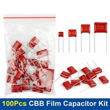 10values X 10pcs100pcs Cbb Metallized Polypropylene Film Capacitor Assorted Kit