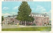 Eugene University of Oregon~Arrow to Where We Live in Men's Dorm~1930 Postcard