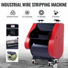 Electric Wire Stripping Machine w Dual Blade Channels for 7/0 - 18 Gauge Wires