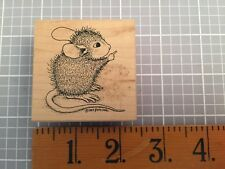 House Mouse Stampa Rosa Rubber Stamp AMANDA POINTS Mice 1999 107D