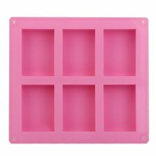 6 Cavity Silicone Rectangle Soap Mould Homemade DIY Cake Making Mold Craft AU