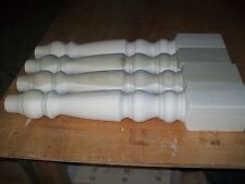 A set of 4 brand new unfinished poplar wood farm table legs. For kitchen, dining