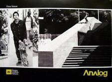 Burton Analog Omar Salazar skateboard 2 side promo poster Flawless New Old Stock