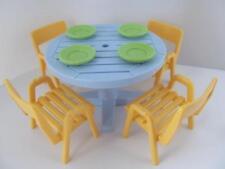 Playmobil DOLLSHOUSE/vacances/camping Mobilier: TABLE de jardin et chaises NEUF
