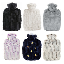 1.8 Litre Classic Comfort Rubberless Hot Water Bottle With Luxury Faux Fur Cover