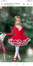Dollcake In The Red tutu Dress Sz 7 Valentine's day Holiday worn once