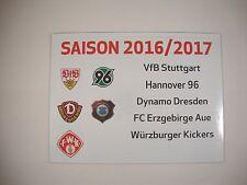 Update-Set 2.Bundesliga Magnettabelle 16/17 Tabelle DFL 2016/2017 2.Liga