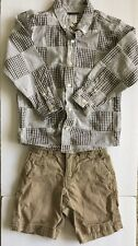 Gymboree Madras Plaid Shirt & GAP KIDS Shorts BOYS Outfit Size 5-6